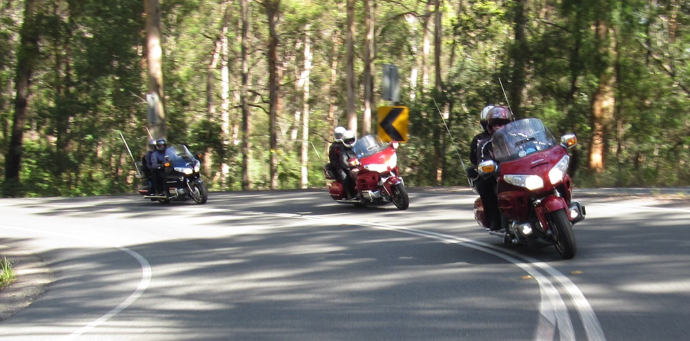 Cornering on a recent ride